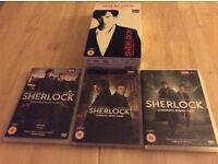 SHERLOCK DVD 1-3. SERIES