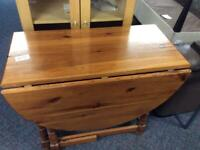 Drop leaf pine table #45308 £49 NO CHAIRS