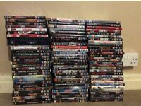 Selling my dvd collection, there are over 100 DVDs with a variety of different films.