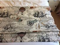 BRAND NEW Roman blind in Map pattern fabric