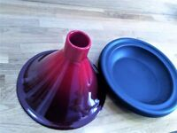 Le Creuset 27cm Red Tagine with cast iron base