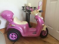 Pink electric scooter