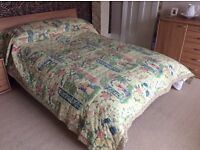 """Broomhill quilted bed throw for double bed """" fairytale"""" design"""