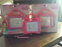 Disney princess magnetic scribble boards. Approximately 80 available