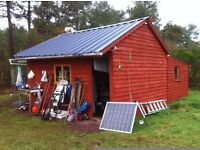 La Shed. 10,000 sq Mt of flat Off Grid Secluded Leisure Land for sale in Brittany France. £32,990