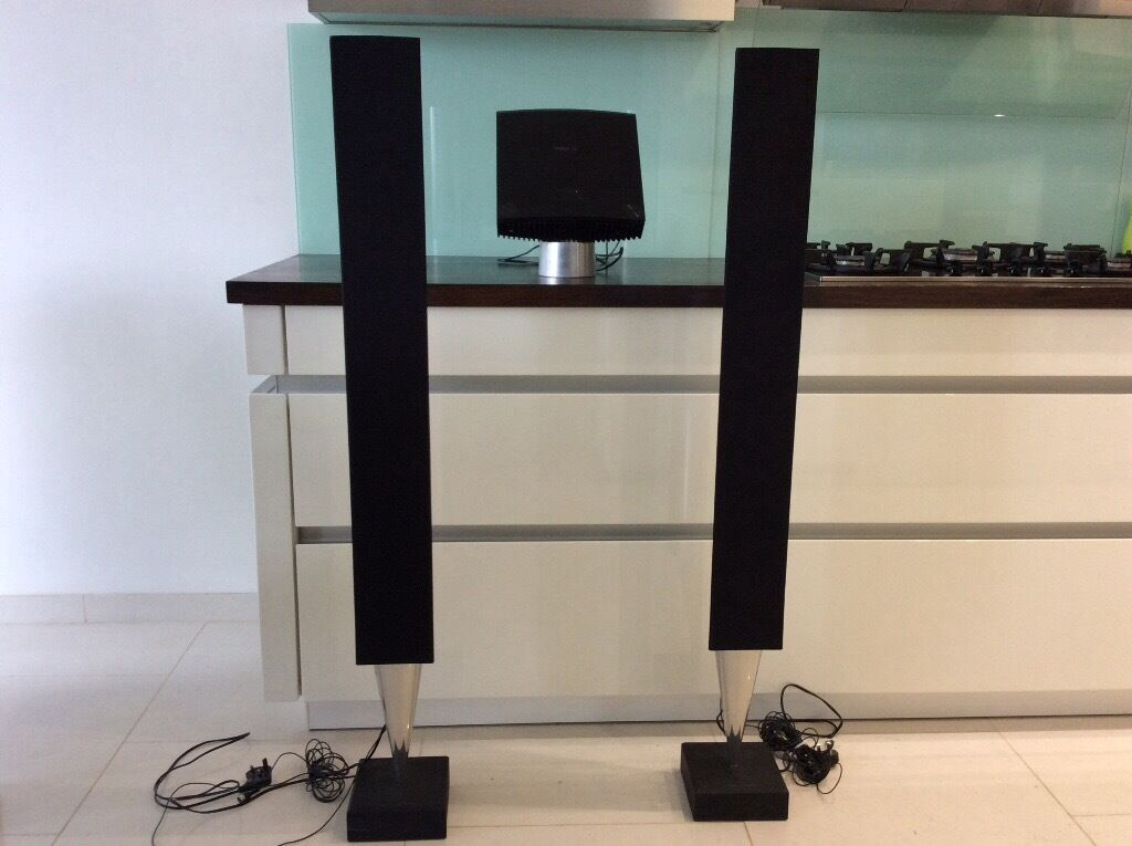 bang and olufsen beosound 4 and beolab 8000 speakers. Black Bedroom Furniture Sets. Home Design Ideas