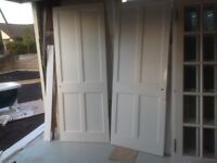 8 hardwood internal doors. 6 glazed and 2 four panel doors.