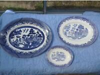 3 blue plates for sale for sale