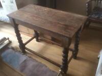 Early 20th century oak side table