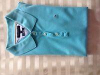 Tommy Hilfiger Blue Polo Shirt Women's Medium Slim Fit