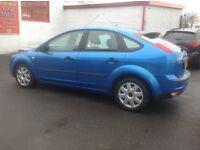 Ford Focus zetec lx 1.6 2005 plate only 70000 miles FSH MOT ONE YEAR 5 door metallic blue REDUCED
