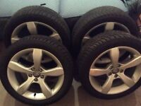 Winter Tyres and Alloys for an Audi A1 (Drymen)