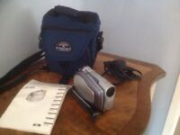 Canon camcorder DVD DC100 and Cannon carry case