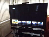 """Panasonic VIERA 50""""plasma tv with separate camera and lan adapter."""