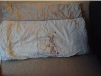 Small duvet for cot / toilet training seat both never used