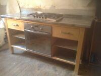 Kitchen worktop table,£185.00