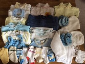 Bundle Of Baby Boy Clothes Size 0-6 Months