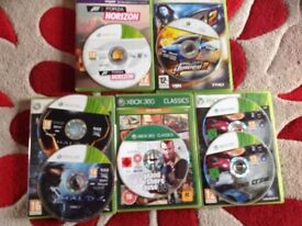 Xbox 360 games, The Crew,4, Halo 4, Juiced 2 and Forza