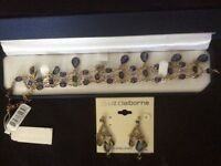 ladies liz claiborne necklace andearring good cond Boxed Beautiful