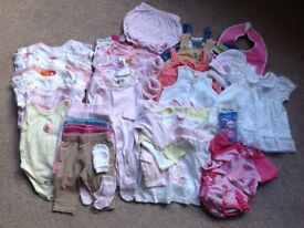 Baby girl clothes bundle 0-3 months,