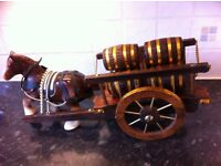 Shire Horse & Beer Barrel Cart dining room ornament