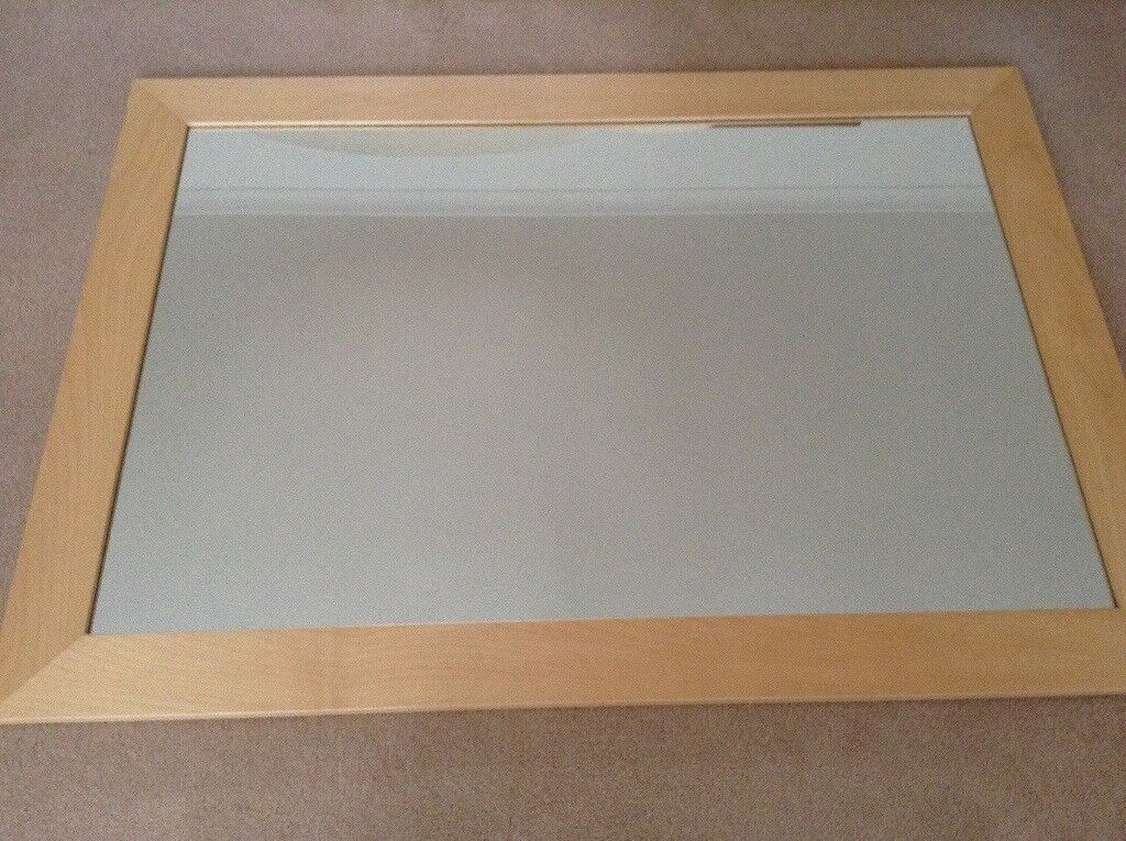 John Lewis maple framed wall mirror