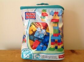 NEW Mega Bloks Fisher Price, large bag 60 pieces, 1-5 years