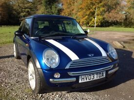 2003 MINI COOPER 1.6 HATCHBACK, FULL LEATHER, PANORAMIC SUNROOF