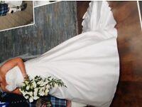 Wedding Dress & Diamanté veil
