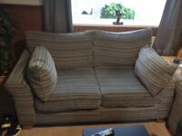 4 and 2 seater sofas only a year and 2 months old good condition