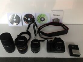 Canon eos 500d digital slr camera and accessories