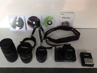 Canon eos 500d digital slr camera and accessories