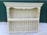 Used solid pine plate rack 85 L x 25 D x 80H cm