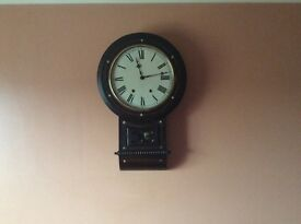 Vintage wall clock with mother of perl inlay