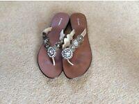 NEXT, ladies slip on summer/wedding sandals.