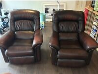 Two high quality leather lazy-boy recliners Premium brand premium comfort