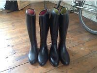 Two pairs of riding boots for sale size 6 and 7