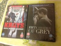 New DVDs fifty shades of grey - rise of the krays