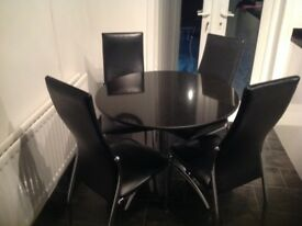 Granite table and four chairs reluctant sale due to house move