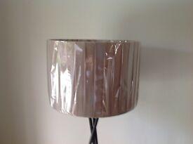 "2 Brand new ""John Lewis 16"" lampshades-fashionable light grey"
