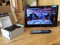 """Alba 16"""" HD LED slim tv with freeview brand new wall bracket"""
