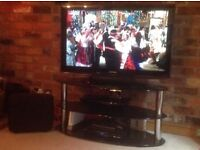 Samsung 40 inch Flarscreen TV + Surround Sound System + Humax Freeview Recorder + TV Stand