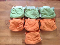 washable nappies: Gnappies Size Small (8-14lb, 3-7kg) USED Good Condition