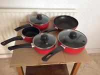 5 piece saucepan & frying pan set