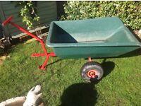 Trailer for ride on garden mower