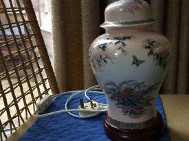 Porcelaine Patterned Lamp. C1989