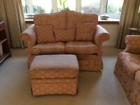 Two and three seater sofa and pouffe