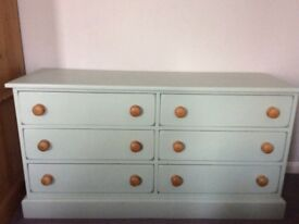 Solid Pine Drawers and 2 matching Bedside cabinets