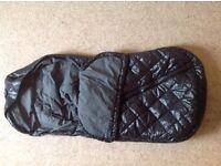 Uppababy Baby Ganoosh Footmuff in black (excellent condition)
