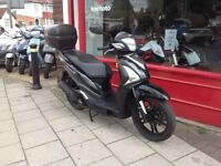SYM SYMPHONY 125 ST BIG WHEELED SCOOTER. RIDES GREAT COMES FULLY SERVICED INCLUDING DRIVE BELT